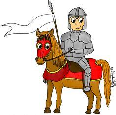 L'Histoire en dessins - Le Moyen âge : le chevalier - Journal de bord d'une instit' débutante