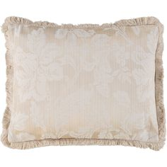 """Riva Classics"" Taupe Floral Motif Rectangle Cushion 40cm x 50cm - TK Maxx"