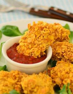 Fit chicken nuggets - baked, NOT fried - Fit Baked Chicken Nuggets, Fruit List, Keto Fruit, Looks Yummy, Food Cravings, Junk Food, Macaroni And Cheese, Vegan Recipes, Good Food