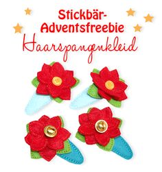 Stickbär-Freebie Haarspangenkleid ITH Freebee from Stivkbaer Hair Clip Cover ITH