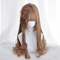 Learn more at the website just click the grey bar for extra options - wigs uk Kawaii Hairstyles, Pretty Hairstyles, Wig Hairstyles, Wig Websites, Grey Hair Wig, Best Lace Front Wigs, Kawaii Wigs, Lolita Hair, Anime Wigs
