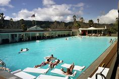INDIAN SPRINGS, CALISTOGA This fixture of poolside relaxation has been operating since 1862. Four natural thermal geysers feed the pool and deposits of volcanic ash enhance spa treatments on the idyllic property, which also features adorable bungalows and extra rooms in the lodge next door. You don't have to stay overnight to enjoy the pool, but you do have to book a spa treatment.  1712 Lincoln Avenue, Calistoga