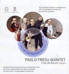 PAOLO FRESU QUINTET in Bangkok  [Italian Festival 2012] 18 May 2012 info. http://ow.ly/aZCX7 Songlines: http://tukmusic.paolofresu.it/2010/05/17/primo-articolo/