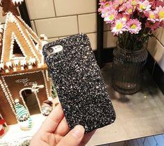 Blingmeister iPhone X Glitzerhülle schwarz