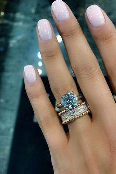 engagement ring trends unique band rose gold set round diamond #UniqueEngagementRings #weddingring