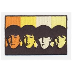 """- Officially Licensed The Beatles Products - Embroidered iron or sew on patch - Iron on Backing - Woven Polyester Patches with a Stitched Overlocked Edge. - Size: 3 1/2"""" x 2 1/4"""""""