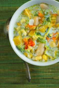 Corn, White Bean, and Squash Blossom Chowder | Flickr - Photo Sharing!