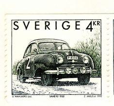 Swedish SAAB Stamp, 1950