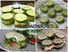 Mini sandwiches de pepino, receta light, nutricion, dieta, salud  https://www.facebook.com/WiseNutrittion/photos/a.521511014562735.1073741828.487396484640855/733727653341069/?type=1&theater
