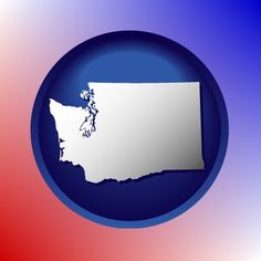 Attractive Washington map icon.