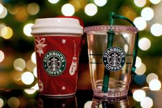 Starbucks ornaments <3