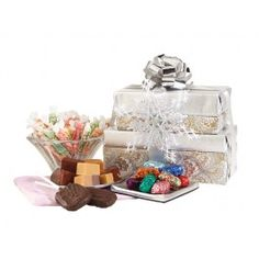 James sugar free fudge and taffy tower candy no sugar no james fralingers celebration gift tower negle Image collections