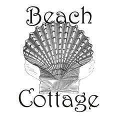 Free Graphic Beach Cottage - The Cottage Market