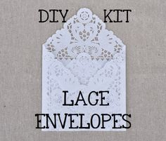 DIY KIT for a set of 50 Lace Wedding Invitation Envelope Liners, Paper Doily Lace Invitation Liner Kit, DIY Invitation Envelope. $35.00, via Etsy.