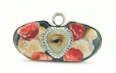 Decoupage Evening Bag by basiazarzycka on Etsy Unique Gifts, Best Gifts, Handmade Gifts, Christmas Gifts For Mom, Evening Bags, Wearable Art, Decorative Bowls, Decoupage, Coin Purse