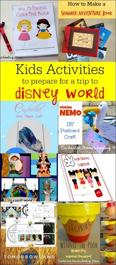 Kids activities to prepare for a trip to Disney World - If you are planning a Disney World vacation, these kids activities will help to build excitement for your trip.