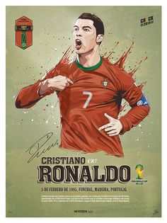Cristiano Ronaldo of Portugal wallpaper. Cristiano Ronaldo Manchester, Cristiano Ronaldo 7, Good Soccer Players, Soccer Fans, Football Players, Best Football Team, Football Art, World Cup 2014, Fifa World Cup