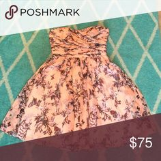 Pink Floral Butterfly Dress Reposhing, didn't fit. Fits a bit closer to a six, but may work for a smaller bust. No trades, swaps or off-posh transactions, no exceptions! Measurements can be provided upon request. Any item in my closet $10 and under can be bundled for free with any purchase of $10 or more, just ask when purchasing! All bundles save 30%! Please feel free to make an offer so the price is right! Happy poshing! J. Crew Dresses Strapless