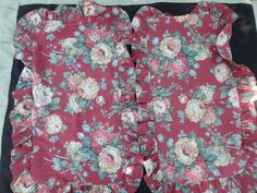 Pair Pillow Shams King Dan Rivers Red Rose Floral Country #DanRivers #FrenchCountry