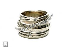 Goldplated ring van Dyrberg/Kern