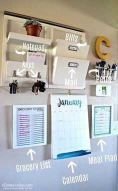 Has clutter got you down? Learn how to make your own functional family command center and stop feeling like an overwhelmed parent. via @aileencooks #homeOrganization
