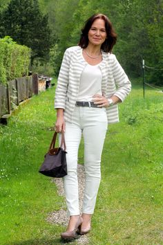 Frühlingslook in neutralen Farben von #opusfashion | Lady of Style