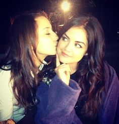 Troian Bellisario and Lucy Hale