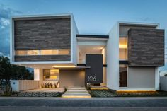 Image 1 of 28 from gallery of R+P House / ADI Arquitectura y Diseño Interior. Photograph by Oscar Hernandez Architecture Design, Architecture Today, Facade Design, Contemporary Architecture, Exterior Design, Contemporary Decor, Chinese Architecture, Futuristic Architecture, Modern House Facades