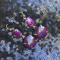 Kendra Scott Earrings Dual tone purple bubble earrings. Cute and fun design! Pairs great with the purple necklace also listed in my closet. Does not include KS dust bag. Kendra Scott Jewelry Earrings