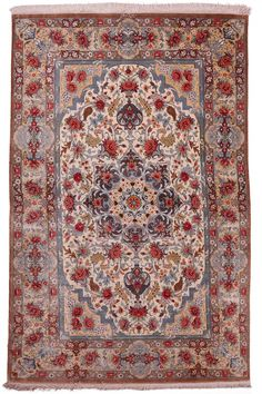 Qum Silk Carpet | Boutique Carpets - Oriental Rugs & Textiles in Cappadocia  ORIGIN: Iran - Qum AGE: New MATERIALS: Pure Silk DIMENSIONS: 157 x 100 cm