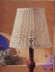 Magic Crochet n° 82 - leila tkd - Picasa Web Album Crochet Home Decor, Crochet Art, Crochet Crafts, Crochet Projects, Crochet Patterns, Crochet Lampshade, Crochet Curtains, Lamp Shades, Light Shades