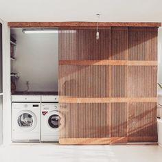 Interior Details - Bright Idea - Home, Room, Furniture and Garden Design Ideas Küchen Design, Design Case, Laundry Room Design, Laundry Area, Laundry Closet, Laundry Doors, Salon Interior Design, Interior Paint, Interior Logo
