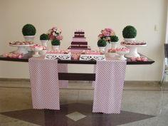 mesa doces rosa e marrom - Google Search
