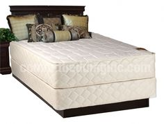 Grandeur White Tight Top Firm Double Sided Queen Mattress