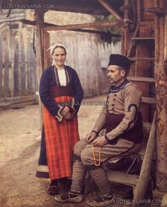 Bulgarian family in typical Rhodope costumes, 1932