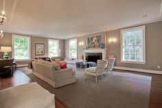Mod Vintage Life: Open House Sunday - Simplicity in large rooms - love!