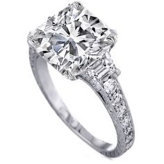 diamond engagement rings with trapezoids 0.80 tcw