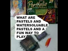 Oil and WATERSOLUABLE PASTELS AND A FUN WAY TO PLAY - YouTube