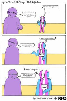 Transgender Tips, Transgender People, Lgbt Comic, Trans Boys, Lgbt Memes, Def Not, Lgbt Love, Les Sentiments, Lgbt Community