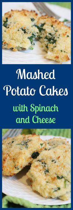 Make the most of leftover mashed potatoes by making baked mashed potato cakes. Mixed with fresh veggies and cheese, they are a unique way to get your kids to eat their greens! From @MomNutrition