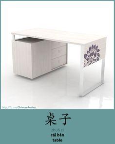 桌子 - zhuō zi - cái bàn - table