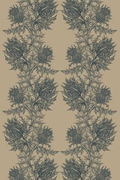 Thistle in Navy Blue from Timorous Beasties #linen #fabric