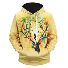 5a5a81317f94 Deer Swing Hoodie %40 Sale!!!! Impression 3d
