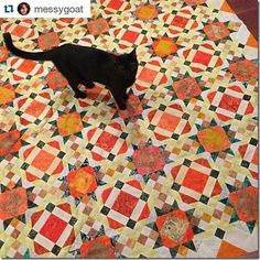 ❤ =^..^= ❤   Allietare ~ 2015-2016 Mystery Quilt ~ Mahalo You, Bonnie Hunter for another wonderful quilt!
