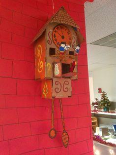 Homemade cardboard cuckoo clock