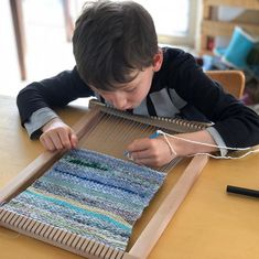 When I start weaving my son wants to weave too. Kids are experiential learners. Weaving For Kids, Experiential Learning, Weave, Sons, Creative, How To Make, Instagram, Design, My Son
