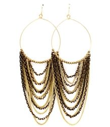 Gorgeous multi layered chain earrings upgrades a simple look  to a stunning one. $12.99