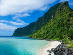 American Samoa Comprising five South Pacific islands and two coral atolls, the distant archipelago of American Samoa is halfway between Hawaii and New Zealand.