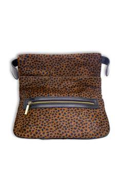 Beautiful classic cheetah-printed clutch