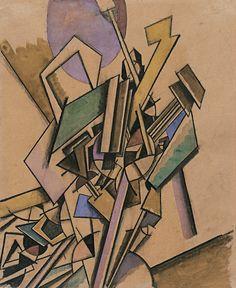 Edward Wadsworth - Vorticist Study, 1914.